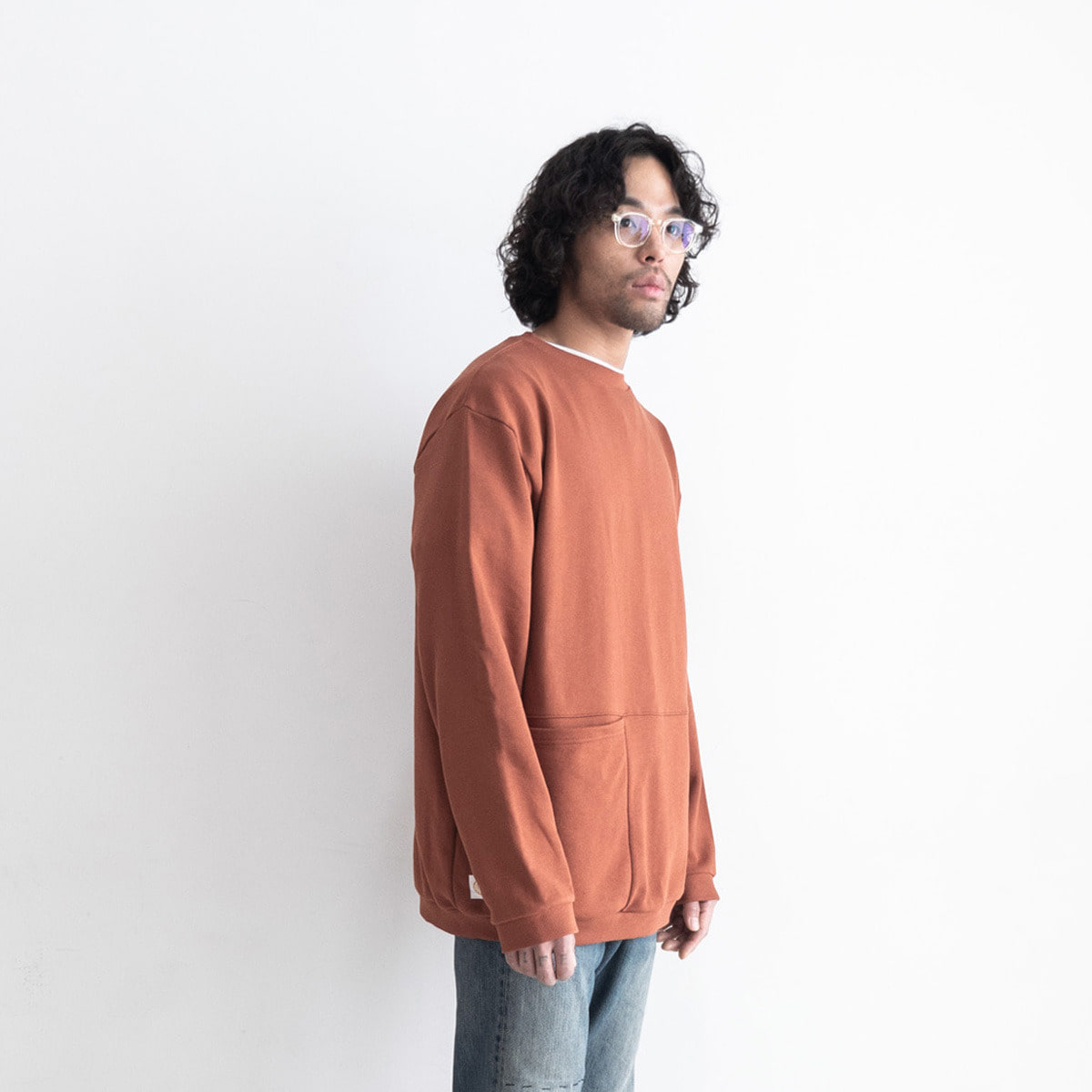 ML pocket sweater_brick orange